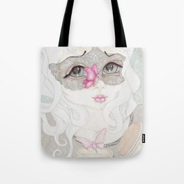 Mysterious Lady Butterfly Tote Bag