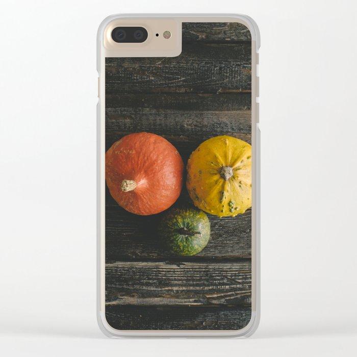 Halloween autumn fall Clear iPhone Case