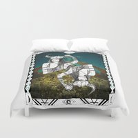taurus Duvet Covers featuring Taurus by Caroline Vitelli GOODIES