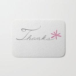 thanks [pink*] Bath Mat