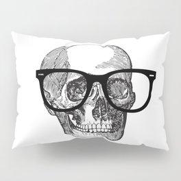 I die hipster - skull Pillow Sham