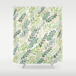 September Leaves Shower Curtain