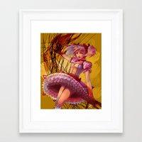 madoka Framed Art Prints featuring Madoka by Raphaelle