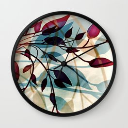 Flood of Leafs Wall Clock