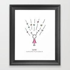 LOVE by ISHISHA PROJECT Framed Art Print