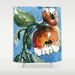 Water Blooms Shower Curtain