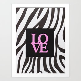 Love and black & white Art Print