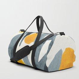 Seamless Watercolor Pattern Mystical Pattern Watercolor Floral Flowers Grey Blue Leaves Orange Fruit Duffle Bag