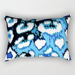 Black and Blue Leopard Spots Rectangular Pillow