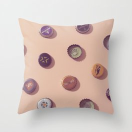 #01#Beercaps#vintage#collection Throw Pillow