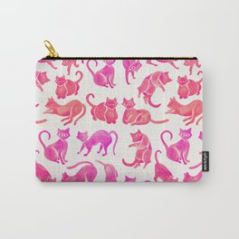 Cat Positions – Pink Ombré Palette Carry-All Pouch