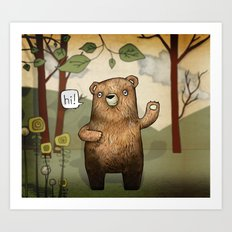 The Little Bear Art Print