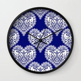 Lace heart 2 Wall Clock