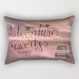 Adventure Awaits Road Trip Rectangular Pillow
