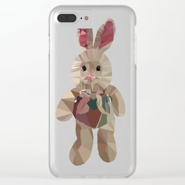 Wether plush toy low poly graphic Clear iPhone Case