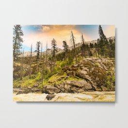 Icicle Canyon Metal Print
