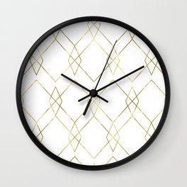 Gold Geometric Wall Clock