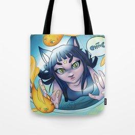 Starcat Girl Tote Bag