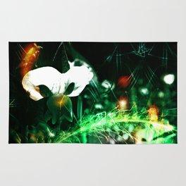 Pea Flower-Phantom Of The Garden-Abstract Rug