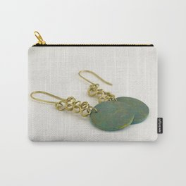 Green earrings Carry-All Pouch