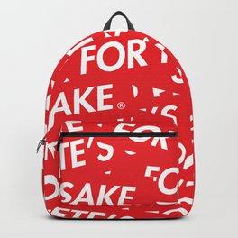 FOR PETE'S SAKE Backpack