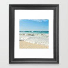 Aloha Kapukaulua Beach Framed Art Print