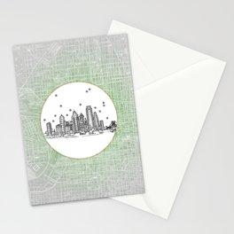 Philadelphia, Pennsylvania City Skyline Illustration Drawing Stationery Cards