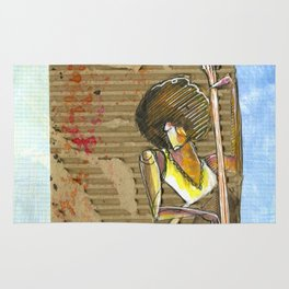 CarbonCard Bass Girl Rug