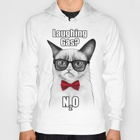 chemistry Hoodies featuring Grumpy Chemistry Cat by Olechka