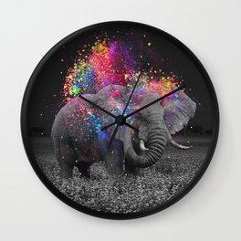 true colors II Wall Clock