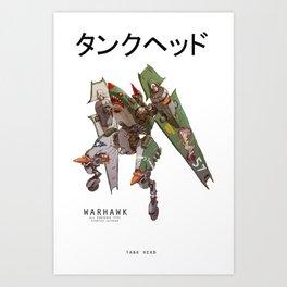 JetHead Warhawk Art Print