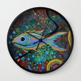 Lone Fish Wall Clock