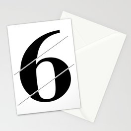 """""""Sliced Collection"""" - Minimal Number Six Print Stationery Cards"""