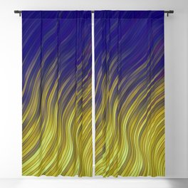 stripes wave pattern 2 with lines vlsi Blackout Curtain