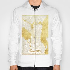 Seattle Map Gold Hoody