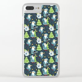 Christmas Winter Pattern Clear iPhone Case