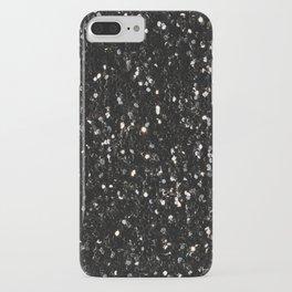 Black and white shiny glitter sparkles iPhone Case
