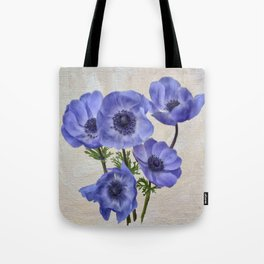 Pretty Periwinkle Poppies Tote Bag