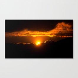 Sun divided Canvas Print