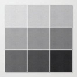 9 Shades of Black Canvas Print