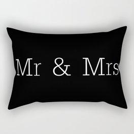 Mr & Mrs Monogram Standard Rectangular Pillow