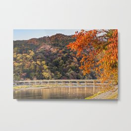 Autumn at Arashiyama, Kyoto, Japan Metal Print