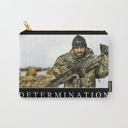 Determination: Inspirational Quote and Motivational Poster Carry-All Pouch