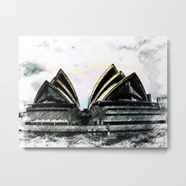 Sydney Opera House  Collection II Metal Print
