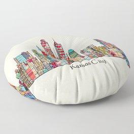 kansas city Missouri skyline Floor Pillow