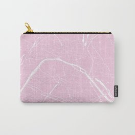 Paris France Minimal Street Map - Pretty Pink Carry-All Pouch