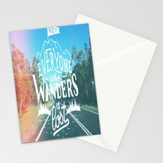 Not everyone who wanders is lost Stationery Cards