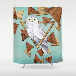 Owl in the Woods Shower Curtain