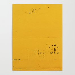 Vintage Yellow Wood Poster