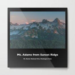 Mt. Adams from Sunset Ridge Metal Print
